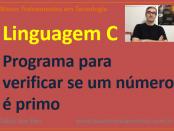 Calcular números primos em linguagem C