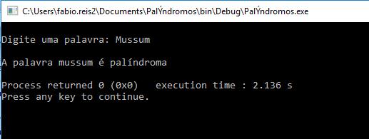 Verificar palíndromos em linguagem C