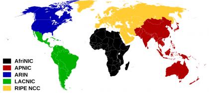 Registros Regionais da Internet RIR