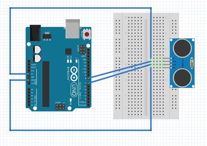 Sensor de distância HC-SR04 com Arduino