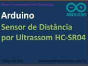 Sensor ultrassônico de distância HC-SR04 no Arduino