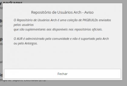 Repositório de Usuários Arch no Antergos Linux