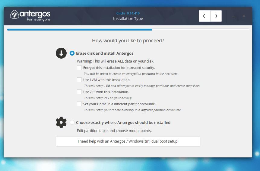 Particionamento e Formatação no Linux Antergos