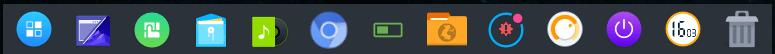 Barra Inferior do Linux Antergos