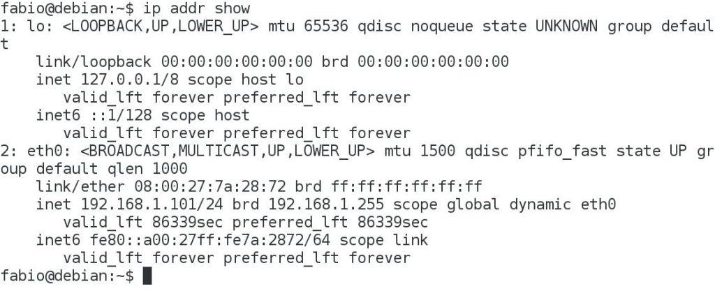 Endereço IP Linux ip addr show