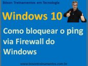 Como bloquear pacotes de ping usando o firewall do windows 10