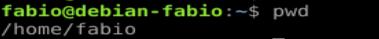 Comando pwd no Linux