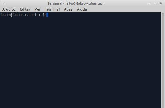Emulador de Terminais sendo executado no Linux Xubuntu (imagem: Fábio dos Reis)
