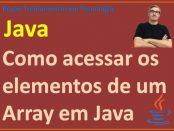 Como acessar os elementos de um array unidimensional em Java