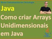 Como criar vetores em Java