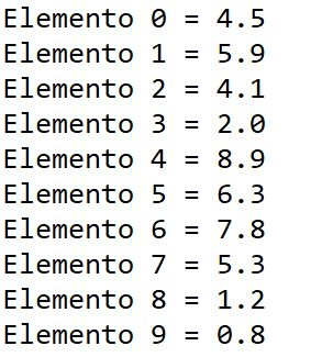Acessando elementos de um array em java usando laço for