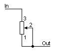 Potenciômetro como resistor variável