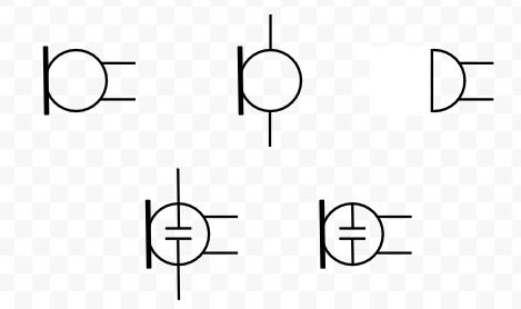 Simbologia de microfones - diagrama esquematico