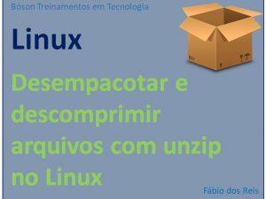 Desempacotar e descomprimir arquivos no Linux com unzip