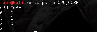 lscpu - linux