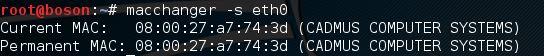 macchanger no kali linux