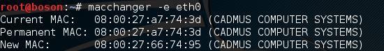 alterar mac address no kali linux