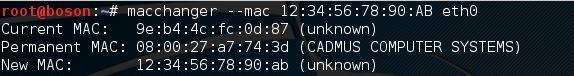usar o macchanger no kali linux