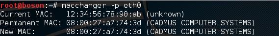 alterar mac address no linux com macchanger