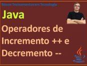 Operadores de incremento e decremento em Java