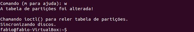 Gravar as alterações feitas nas partições de disco no Linux