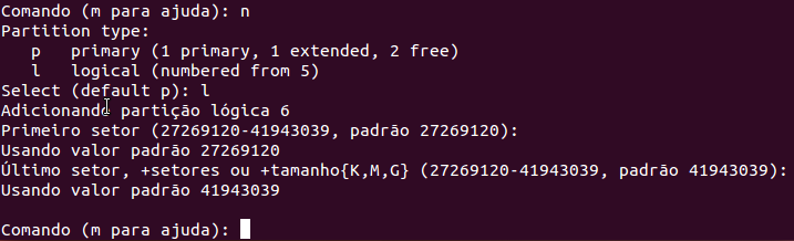 Como particionar HD no Linux