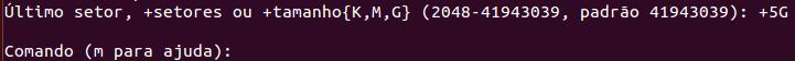 Determinando o tamanho de uma partição no Linux
