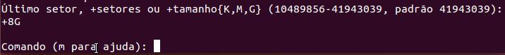 Tamanho da unidade lógica no Linux