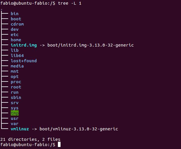 Visualizar diretórios no linux com comando tree
