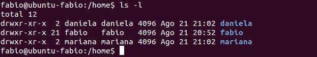 Diretório /home no Linux Ubuntu