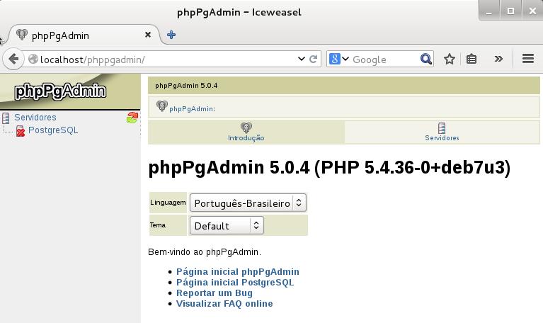 Instalar phpPgAdmin no Linux
