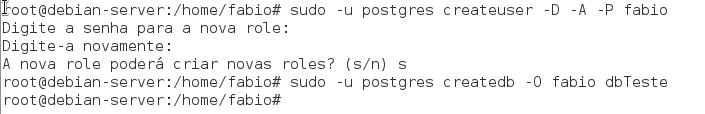criar usuário no postgresql