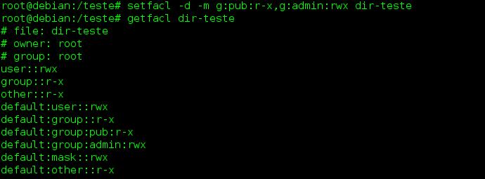 Configurar Access Control List no Linux