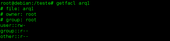 ACL - comando getfacl no Linux