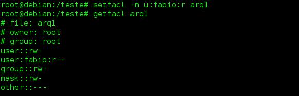 Comando setfacl no Linux