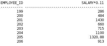 Calcular salário líquido após desconto INSS com oracle database