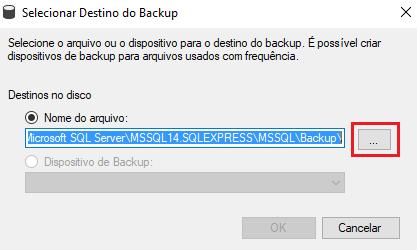 Salvar arquivo de backup do SQl Server