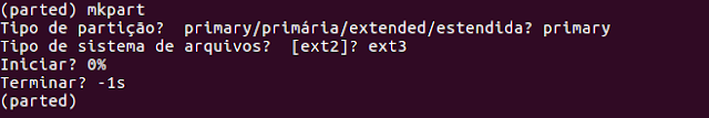como particionar un HD en linux con comando parted