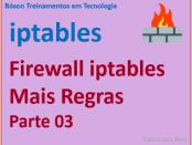Exemplos de regras no firewall iptables no Linux - netfilter