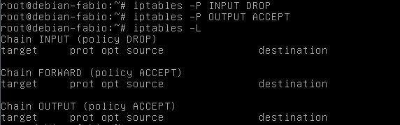 Limpar regras no firewall iptables no linux