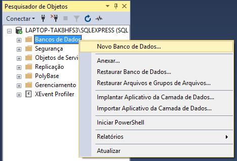 Realizar restore de banco de dados no SQL Server