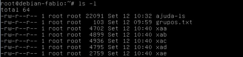dividir arquivos no linux com split