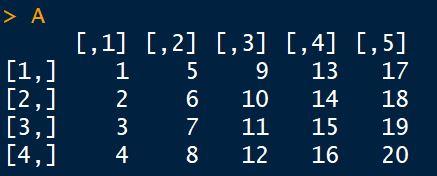 Criar matriz em linguagem R