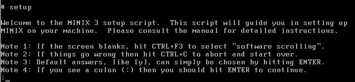 Minix Operating System