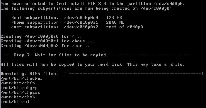 Sistema operacional Minix, do Tanenbaum