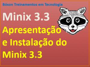 Efetuar a instalação do sistema operacional Minix 3.3