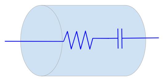 Representação da ESR em um capacitor
