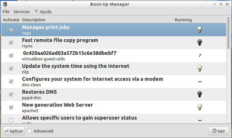 Boot-up manager no Linux Debiar