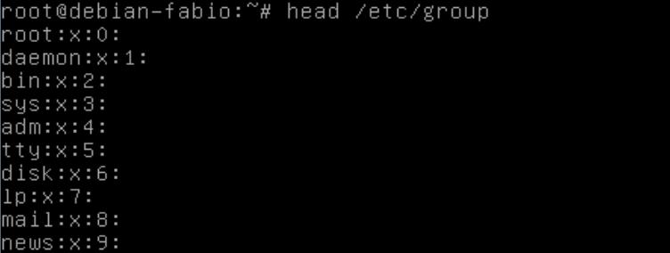 Comando head no Linux