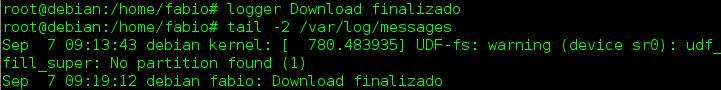 Comando logger no Linux - criar arquivos de log